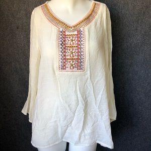 Wrangler Rock 47 linen like blouse with beading